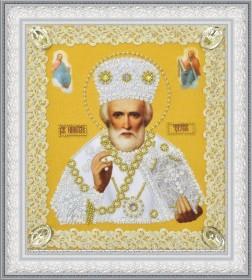 Набор для вышивки бисером Икона Святителя Чудотворца (золото) ажур Картины бисером Р-369 - 221.00грн.