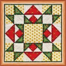 Набор для вышивки крестом Квилт. Рождество Абрис Арт АН-017
