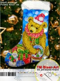 Схема для вышивки бисером Подарочный сапожок, , 100.00грн., 23010, Biser-Art, Новый год