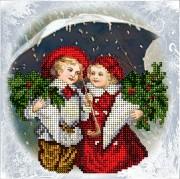 Набор для вышивки ювелирным бисером Рождественские истории 17