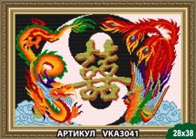 Рисунок на ткани для вышивки бисером Семейное счастье, , 105.00грн., VKA3041, Art Solo, Наборы и схемы для вышивки бисером и нитками Восток