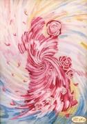 Схема для вышивки бисером на атласе Танец любви