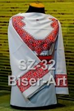 Заготовка для вышивки бисером Сорочка женская Biser-Art Сорочка жіноча SZ-32 (габардин)