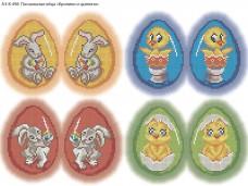 Схема для вышивки бисером на габардине Пасхальные яйца Acorns А3-К-498