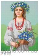 Схема вышивки бисером на атласе Украиночка