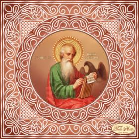 Схема вышивки бисером на атласе Святой Апостол и Евангелист Иоанн Богослов