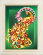 Набор для вышивки нитками (стиль Rococo) Птица счастья