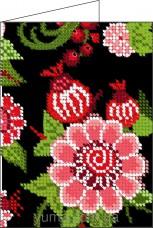 Схема вышивки бисером на атласе Обложка для паспорта Юма СШИТАЯ-Д6