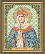 Схема вышивки бисером на габардине Святая Равноапостольная Княгиня Ольга