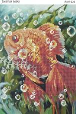 Схема для вышивки бисером на габардине Золотая рыбка Acorns А4-К-222