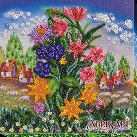 Набор-миди для вышивки бисером на холсте Земные звезды, , 219.00грн., АМВ-009, Абрис Арт, Цветы