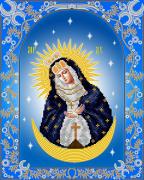 Схема для вышивки бисером на атласе Остробрамская икона Божьей Матери