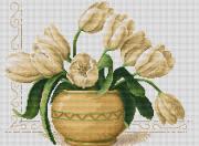 Набор для вышивки крестом Ваза с тюльпанами