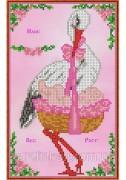 Набор для вышивки бисером Метрика для девочки