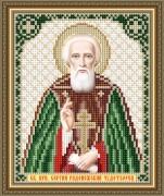 Схема вышивки бисером на авторской канве Святой Преподобный Сергий Радонежский Чудотворец