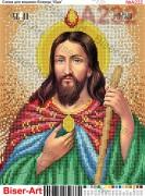 Схема вышивки бисером на габардине Св. Юда