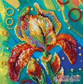 Набор-мини для вышивки бисером на натуральном художественном холсте Разноцветный ирис, , 107.00грн., AM-203, Абрис Арт, Цветы