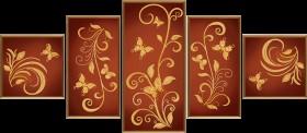 Схема для вышивки бисером на атласе Цветочный шлейф (5 частей) Новая Слобода (Нова слобода) В56504 - 268.00грн.