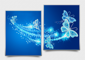Схема для вышивки бисером на атласе Ажурные бабочки (синий) Диптих А-строчка АРЗ-012 - 182.00грн.
