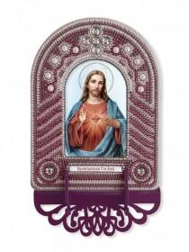 Набор для вышивки иконы с рамкой-киотом Святейшее Серде Иисуса Новая Слобода (Нова слобода) ВК1024 - 205.00грн.