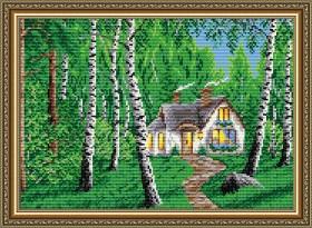 Набор для выкладки алмазной мозаикой Домик в лесу, , 400.00грн., АТ3015, Art Solo, Пейзажи