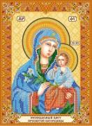 Схема для вышивки бисером на холсте Богородица Неувядаемый цвет