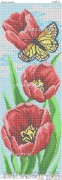 Схема вышивки бисером на атласе Панно ТЮЛЬПАНЫ