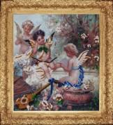 Схема вышивки бисером на атласе Райская мелодия