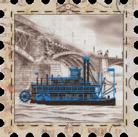 Набор для вышивки нитками Пароход, , 274.00грн., КО4010, Новая Слобода (Нова слобода), Городские пейзажи