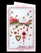 Набор для вышивки бисером Открытка-конверт Свадебная мишура