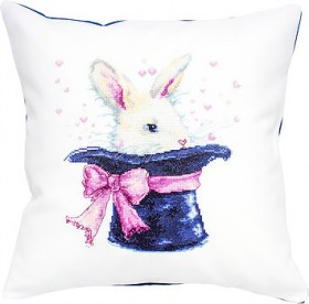 Набор подушки для вышивки крестом Кролик в шляпе Luca-S РВ139 - 371.00грн.