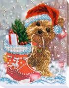 Набор для вышивания бисером на холсте Новогоднее чудо