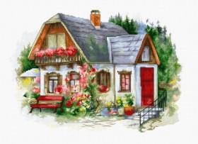 Набор для вышивки крестом Красивый загородный домик