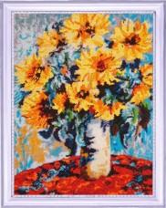 Набор для вышивки бисером Подсолнухи в вазе (по мотивам К. Моне) Баттерфляй (Butterfly) 138Б