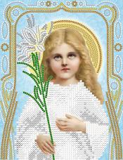 Рисунок на ткани для вышивки бисером Божья Матерь Трилетствующая (серебро) А-строчка АС5-078