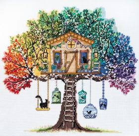 Набор для вышивки крестом Кошкин дом
