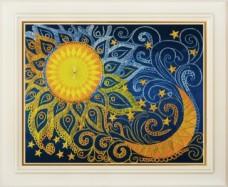 Набор для вышивки нитками (стиль Rococo) День и ночь OLANTA R - 009