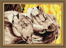 Набор для выкладки алмазной техникой Львы, , 400.00грн., АТ3012, Art Solo, Животные