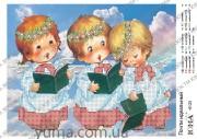 Схема вышивки бисером на атласе Хор ангелочков