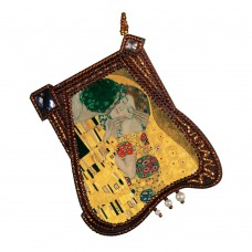Набор для вышивки подвески бисером Поцелуй по мотивам Г. Климта Новая Слобода (Нова слобода) РВ4401