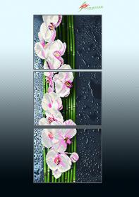 Схема для вышивки бисером на атласе Ванильный каскад (триптих) А-строчка АР3-017 - 225.00грн.