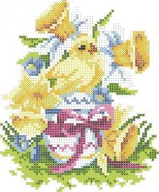 Схема вышивки бисером на атласе Пасхальный Рушничок Картины бисером ХВД-24 - 28.00грн.