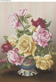 Схема для вышивки бисером на габардине Букет роз Acorns А2-К-378 - 144.00грн.