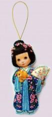 Набор для изготовления куклы из фетра для вышивки бисером Кукла. Япония Баттерфляй (Butterfly) F047