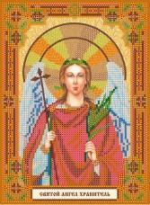 Схема для вышивки бисером на холсте Святой Ангел Хранитель Абрис Арт АСК-140