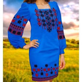 Заготовка женского платья на синем габардине Biser-Art Bis6046 - 470.00грн.