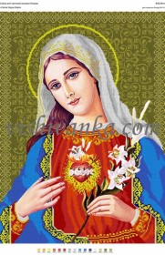 Схема для вышивки бисером на атласе Святе Серце Марії. Артикул  А2-058 атлас aa987fa473d25