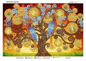 Схема для вышивания бисером Денежное дерево