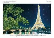 Схема вышивки бисером на атласе Вечерний Париж