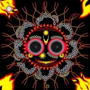 Схема для вышивки бисером на атласе Владыка Вселенной Джаганнатха